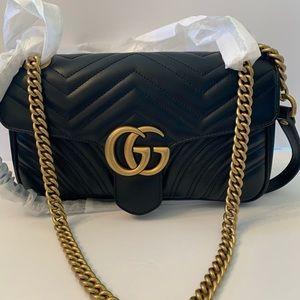 Gucci GG Marmont Matelasse small black handbag